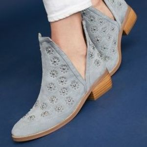 New Anthropologie Silent D Studded Suede Boots